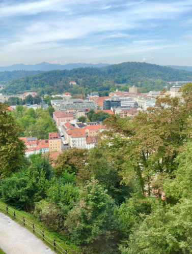 A view from Ljubilana Castle in Slovenia