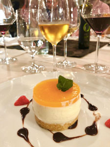 Dessert paired with Pikolit Dessert Wine from Slovenia
