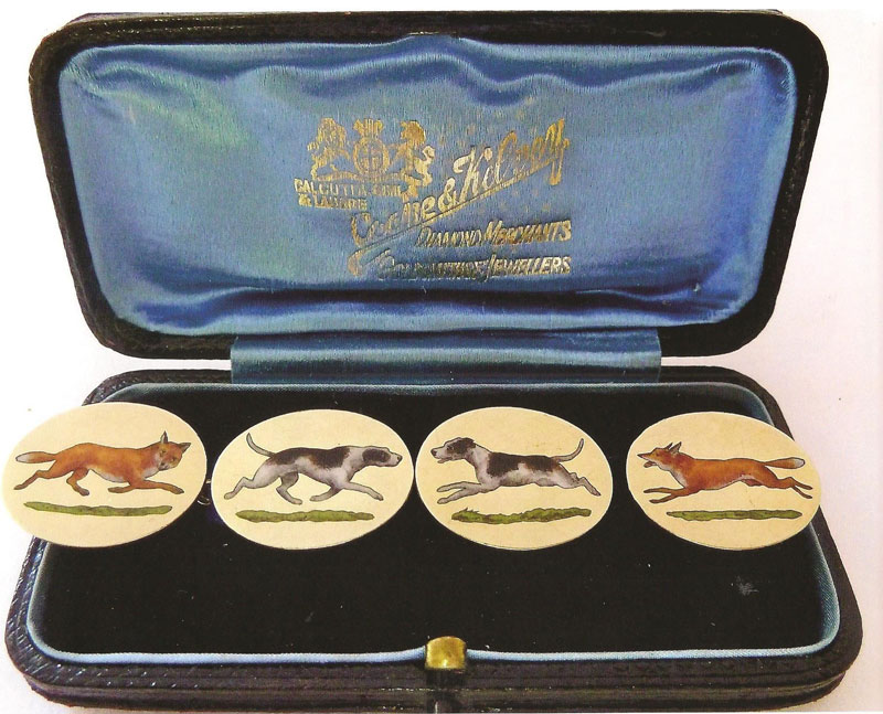 18-ct-Gold-Cufflinks-painted-with-4-different-images