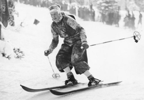 1936 Downhill Olympics female competitor