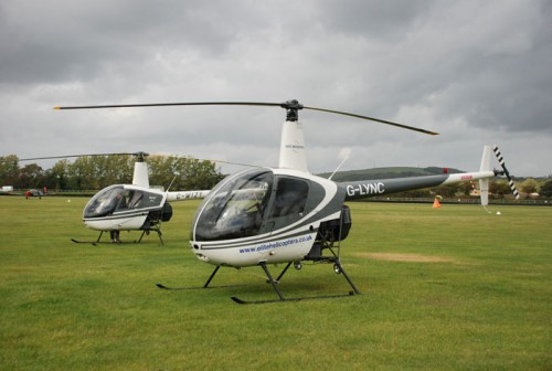 2 Helicopters Robinson R22s