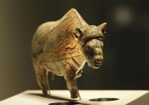 21,000 year old Bison sculpture