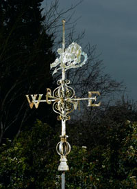 A-Victorian-wrought-iron-weathervane