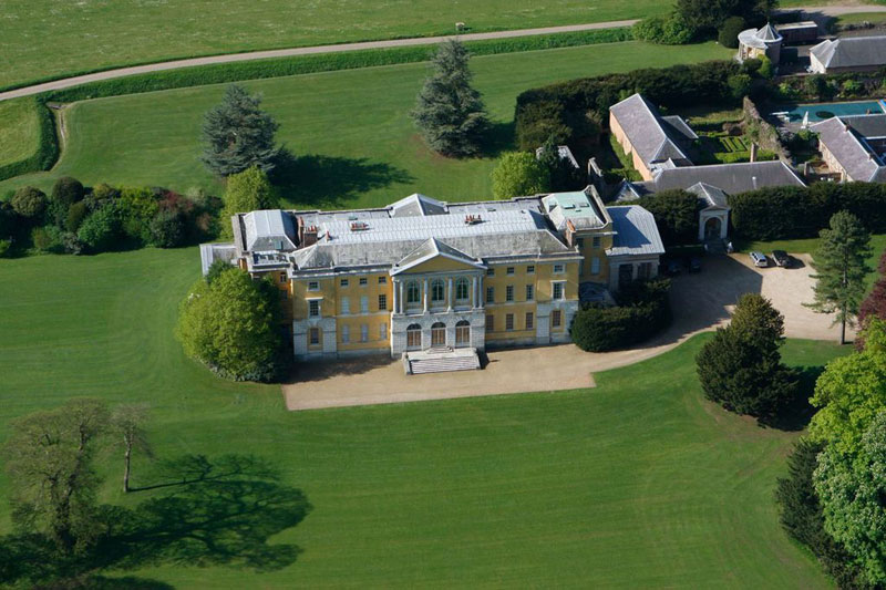 Aerial view of West Wycombe House