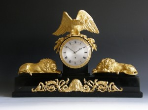 An Imposing English Mantel Timepiece