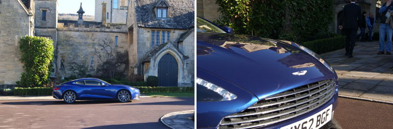 Aston Martin vanquish at the Ellenborough