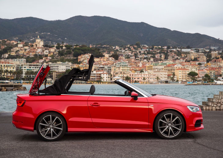 Audi A3 Cabriolet 2.0 TDI roof mechanism