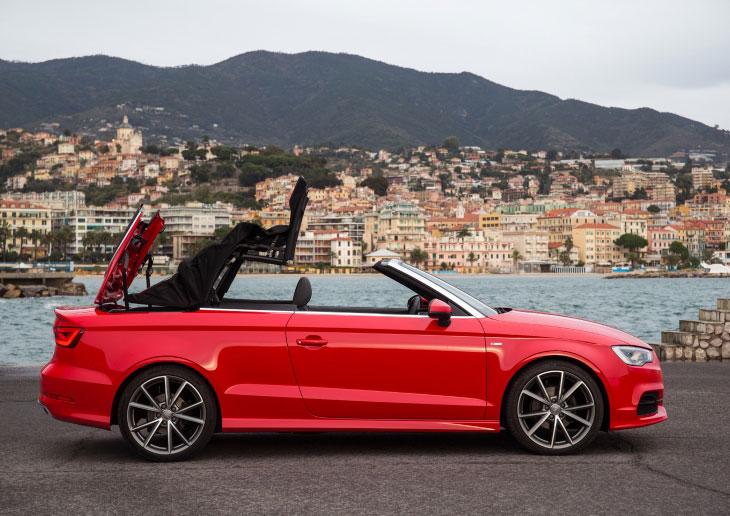 Audi A3 Cabriolet 2.0 TDI roof mechanism