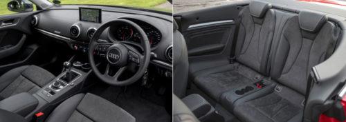 Audi A3 cabriolet TDI S Line interior