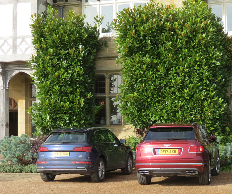 Audi Q5 holding its own next to Bentley Bentayga