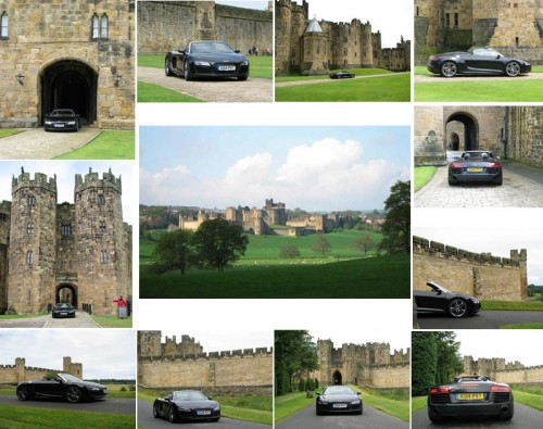 Audi R8 Spyder at Alnwick Castle