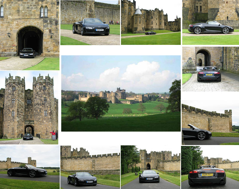 Audi R8 Spyder at Alnwick Castle