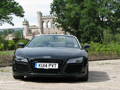 Audi R8 Spyder at Lowther Castle