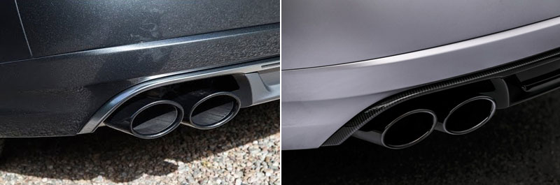Comparison of Audi S8 Sport and Audi S8 Sport Plus exhausts