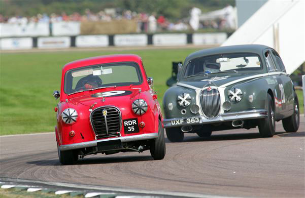 Austin A35 and Jag MK1 credit John Colley