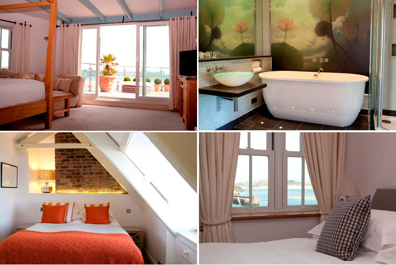 Bedrooms and Bathroom at Rick Stein Padstow Cornwall