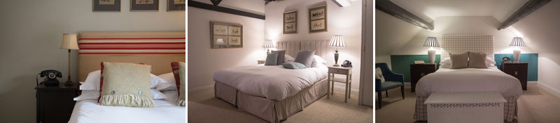 Bedrooms at King John Inn Tollard Royal