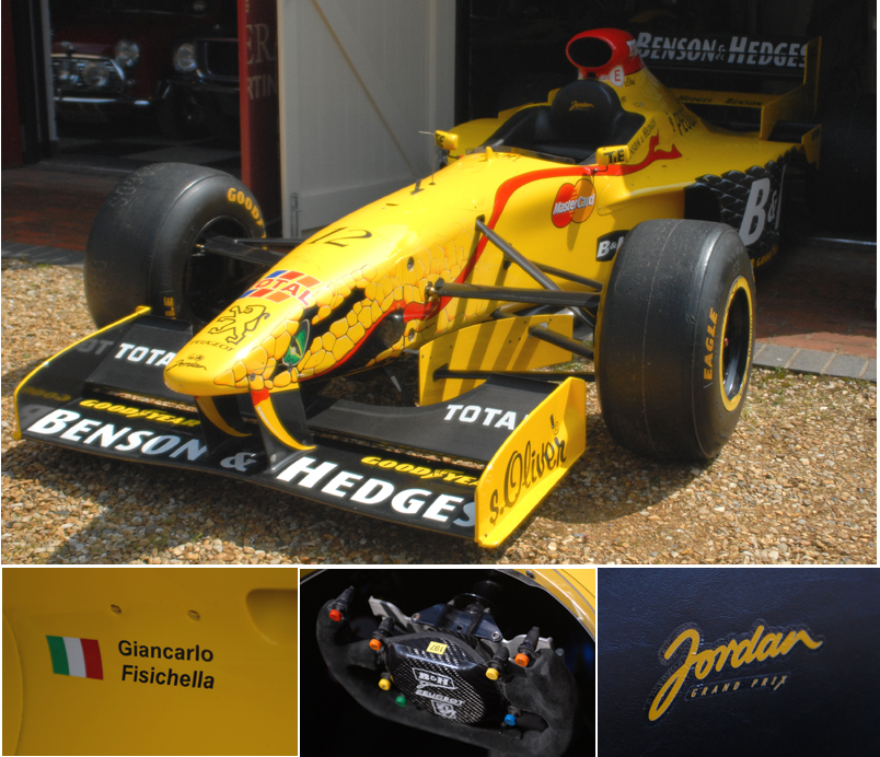 Benson & Hedges-sponsored by Jordan Peugeot Formula 1 car 1997