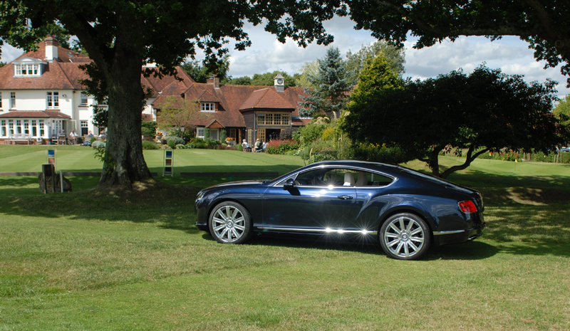 Bentley Continental GT W12 in the grounds of Park House Hotel at Bepton