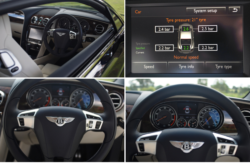 Bentley Continental GT W12 interior details