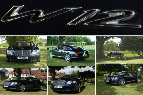 Bentley Continental GT W12 posing at Park House Hotel Bepton