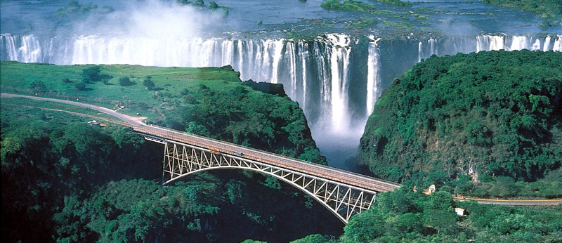 Bridge constructed at Victoria Falls Zimbabwe
