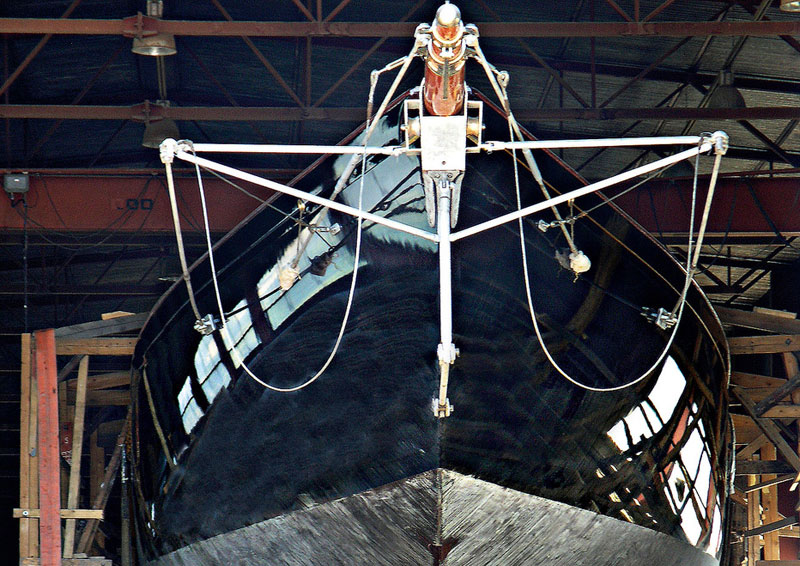 britannia and her instantly recognisable short bowsprit