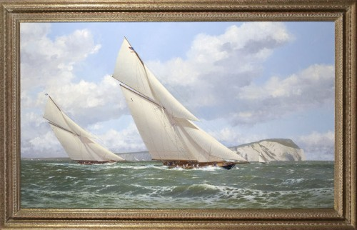 Britannia Leading White Heather Just Off The Needles by Stephen Renard