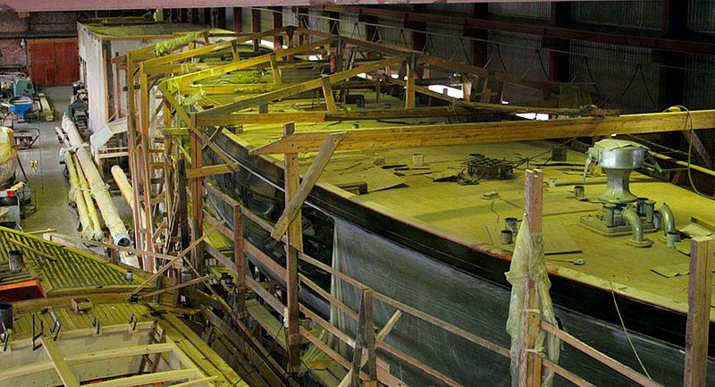 Britannia - work progressing well at the Solombala Yard in Russia