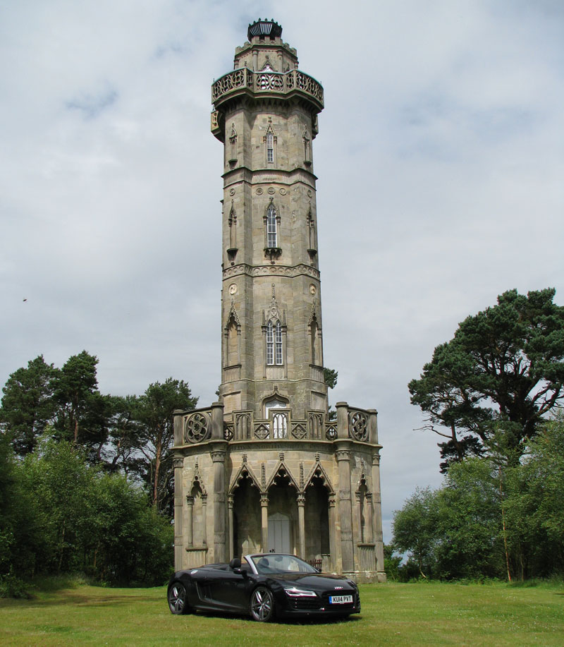 Brizlee Tower in Hulne Park Alnwick
