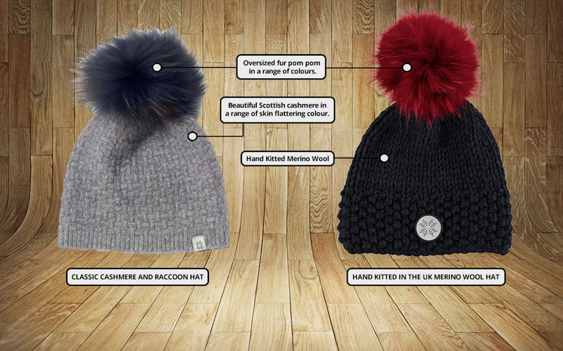 Snow Finel Ski Wear Cashmere and Merino Hats