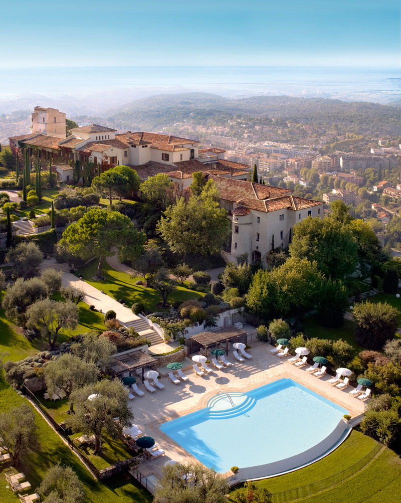 Ariel view of Chateau Saint Martin Hotel and Spa