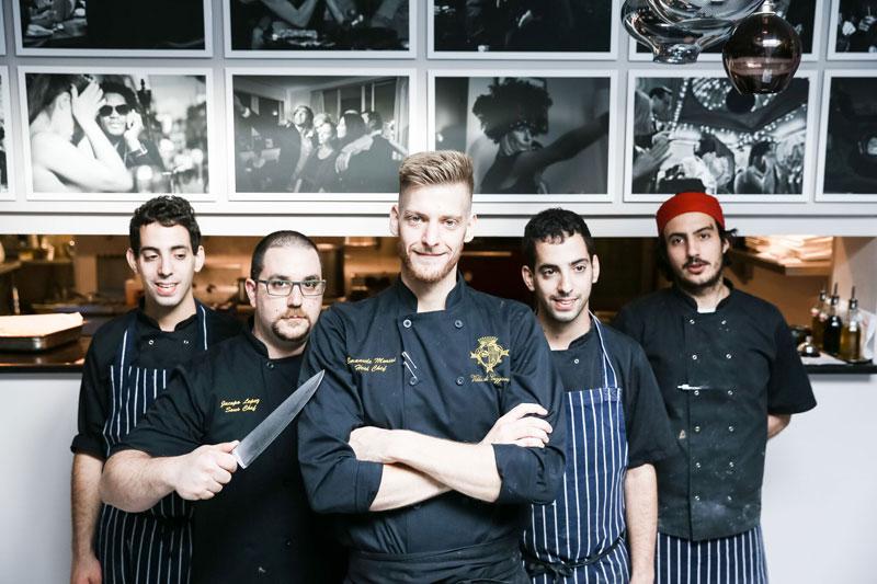 Chef and kitchen staff at Villa de Geggiano in Chiswick