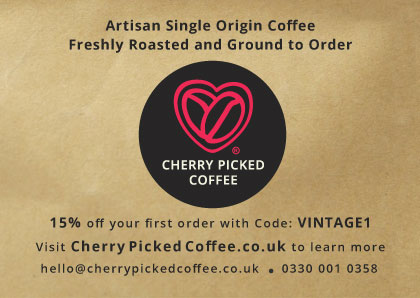 Cherry Picked Coffee Vintage Magazine Offer Voucher