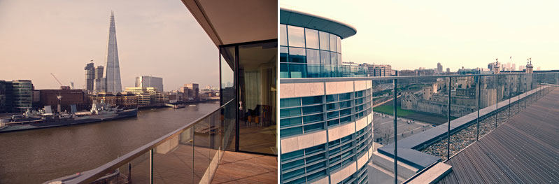 Cheval Three Quays Views from balconies