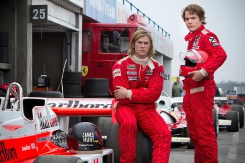 Chris Hemsworth as James Hunt and Daniel Bruhl as Niki Lauda