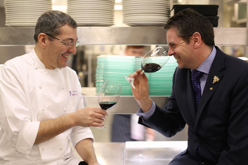 Daniel Galmiche Head Chef and Alan Holmes Restaurant and Wine Director at The Vineyard Stockcross