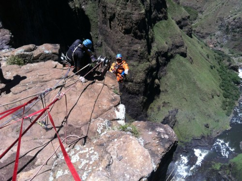 Absailing the Maletsunyane Falls