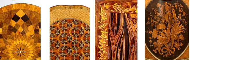 Wick Antiques Details of Occasional Table Exotic Inlays