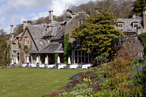 Endsleigh Hotel and croquet lawn