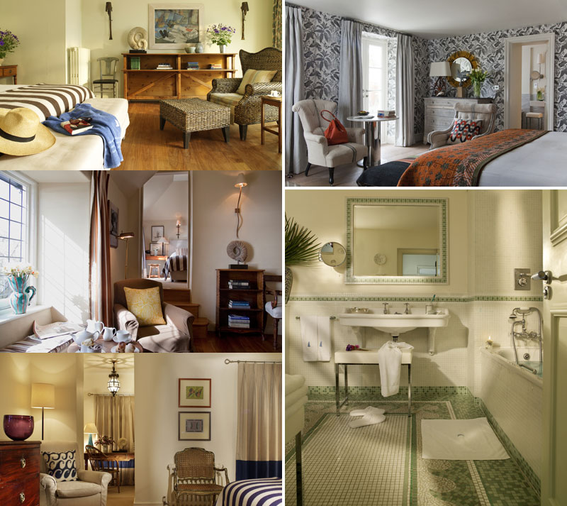 Elegant bedrooms at Tresanton Hotel St. Mawes Cornwall