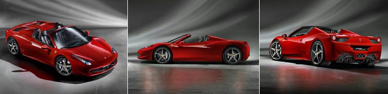 Ferrari Spyder 458 Convertible