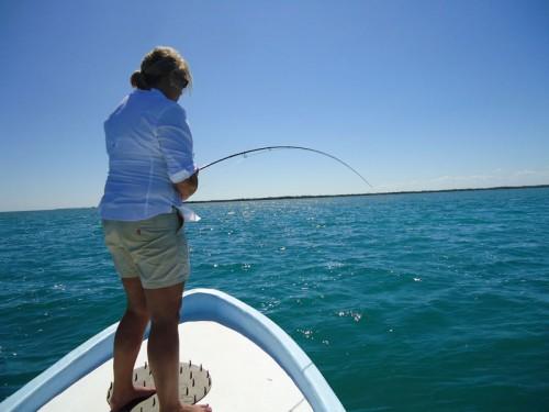 Fishing Belize El Pescador Casting