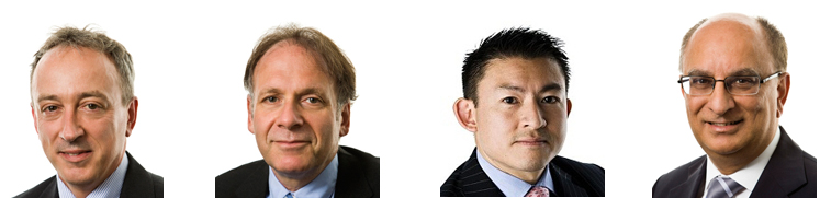 Alan Dixon, Jeremy Kleinfeld, Philip Li and Kiran Morzeria - the founding partners of DKLM