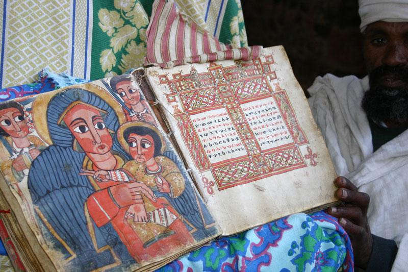 Geez Bible on vellum Nakutolab Lalibella Ethiopia