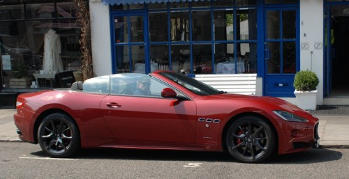 George Robinson arrives in London in the GranCabrio Sport