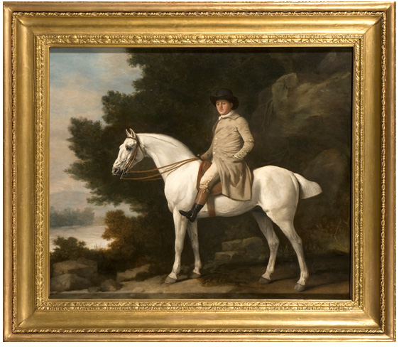 George Stubbs - Portrait of a Gentleman upon a Grey