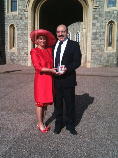 Gerard and Nina Basset at OBE Investiture
