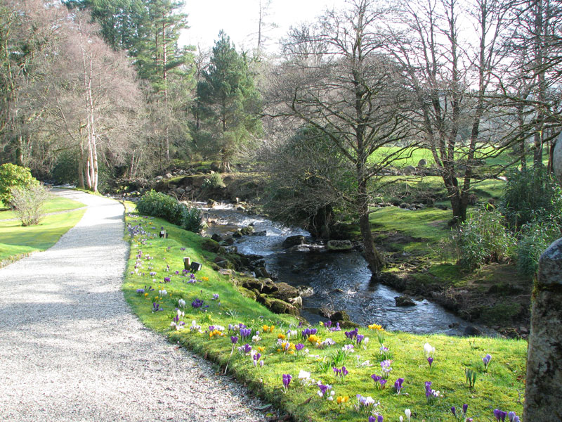 Gidleigh Park Grounds with River Teign tumbling through them