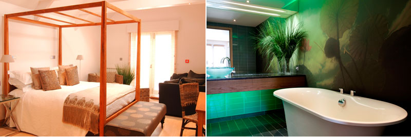 Gulland Suite and bathroom at Rick Steins Seafood Restaurant in Padstow